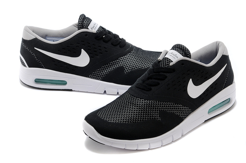 Men Nike Air Eric Koston 2 Max Low Dark Black White Shoes