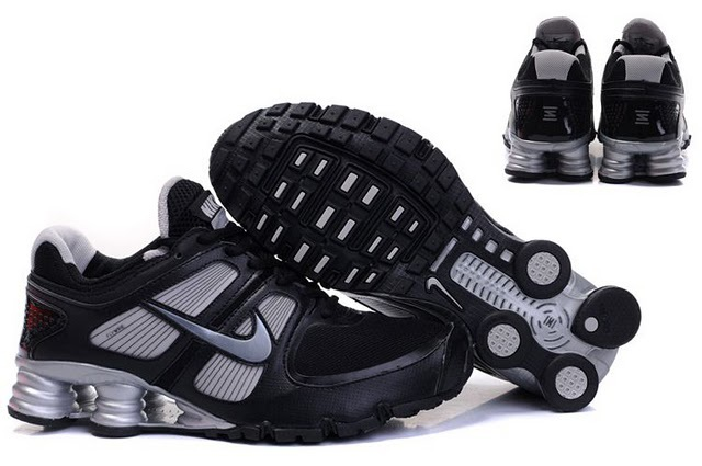 Men Nike Shox Turbo Shoes Black Grey