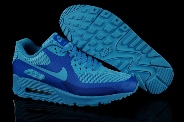 Mens Nike Air Max 90 Hyperfuse Blue Glow Shoes