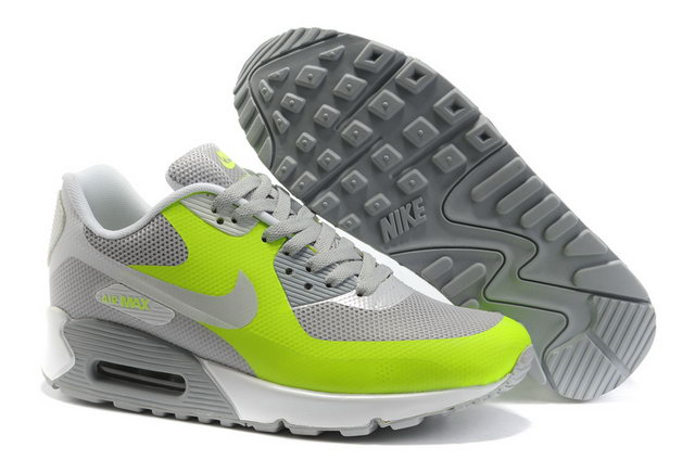 Mens Nike Air Max 90 Hyperfuse Grey Green Shoes