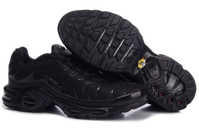 Mens Nike Air Max TN 2010 All Black Mesh Shoes