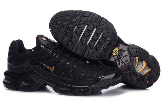 Mens Nike Air Max TN 2010 Black Gold Shoes