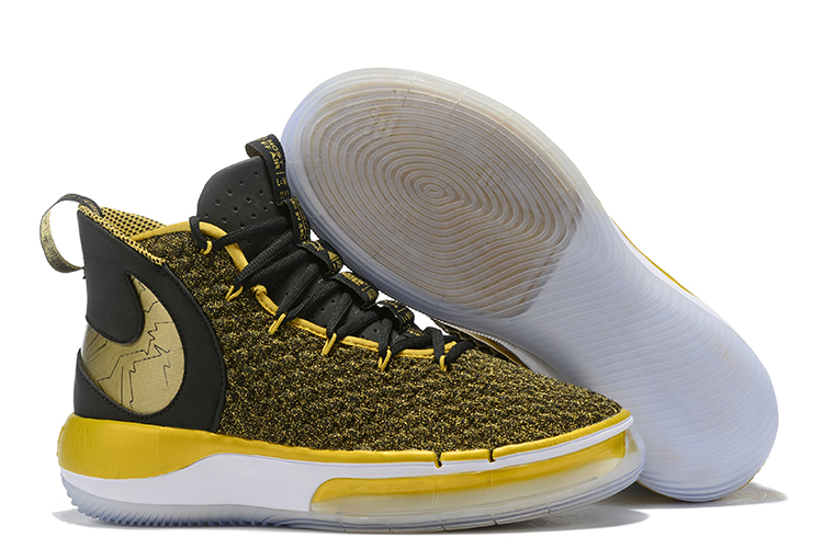 NIKE AIphaDunk FIBA Yellow Black Gold Shoes