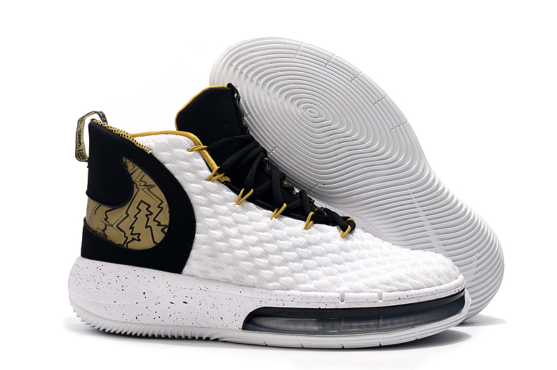 NIKE AIphaDunk White Black Gold Shoes