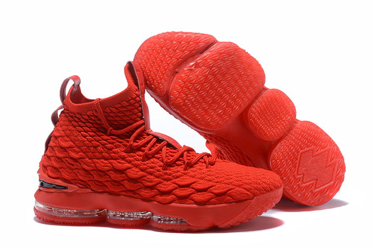 NIKE LeBron XV All Red Shoes