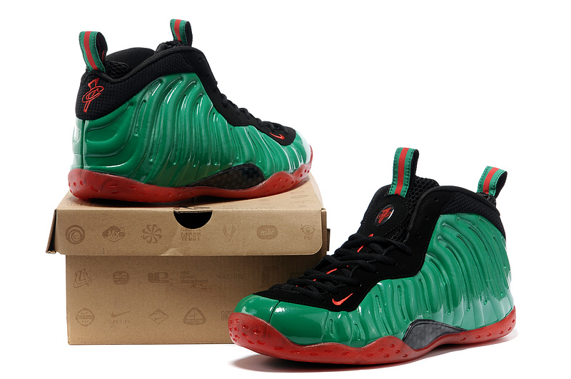 Nike Air Foamposite One Shooting Stars Black Green Red Shoes