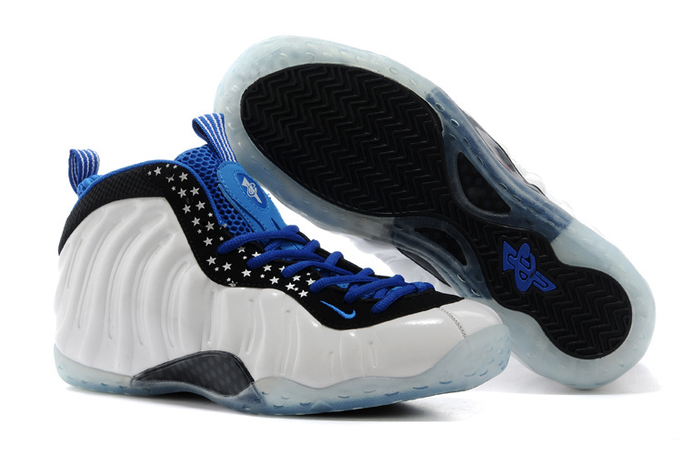 Nike Air Foamposite One Shooting Stars White Blue Black Shoes