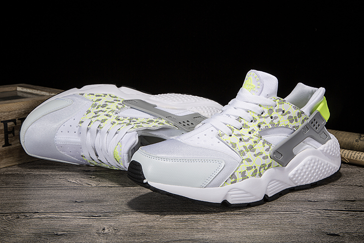 New Women Nike Air Huarache 1 Silver White Cheetah Print Shoes