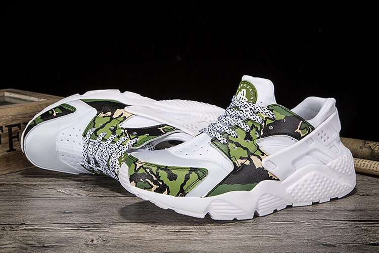 New Women Nike Air Huarache 1 White Green Grey Shoes