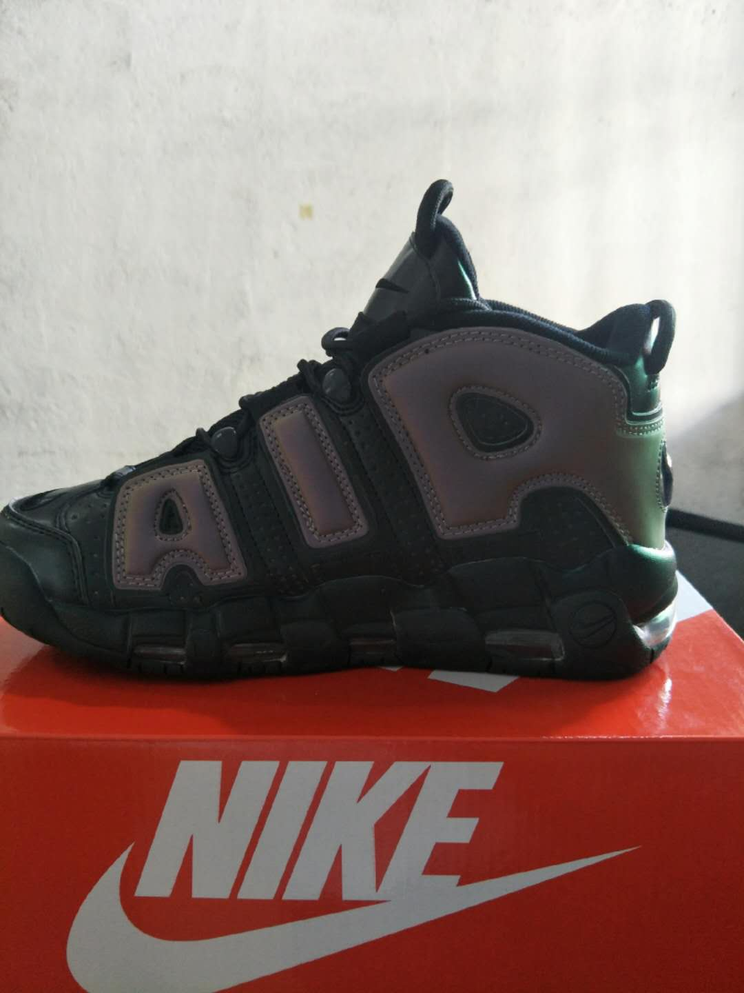 New Nike Air More Uptempo Black Coffe Shoes