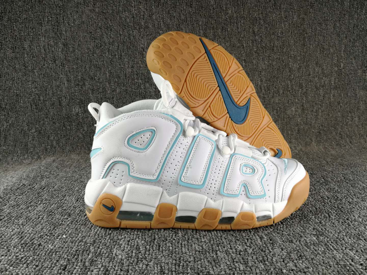 New Nike Air More Uptempo Laker Blue Blue Shoes