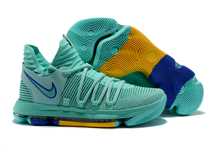 New Nike KD 10 Easter Green Blue Shoes