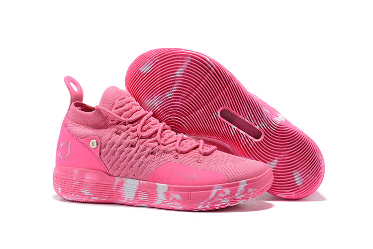 New Nike KD 11 Breast Cancer Pink White Shoes