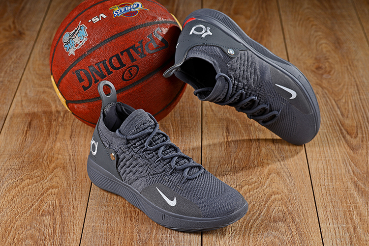 New Nike KD 11 Carbon Grey Red Shoes