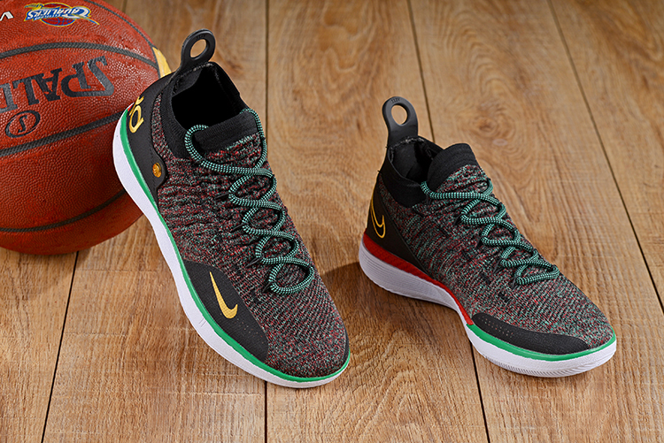 New Nike KD 11 Colorful Black Green Shoes