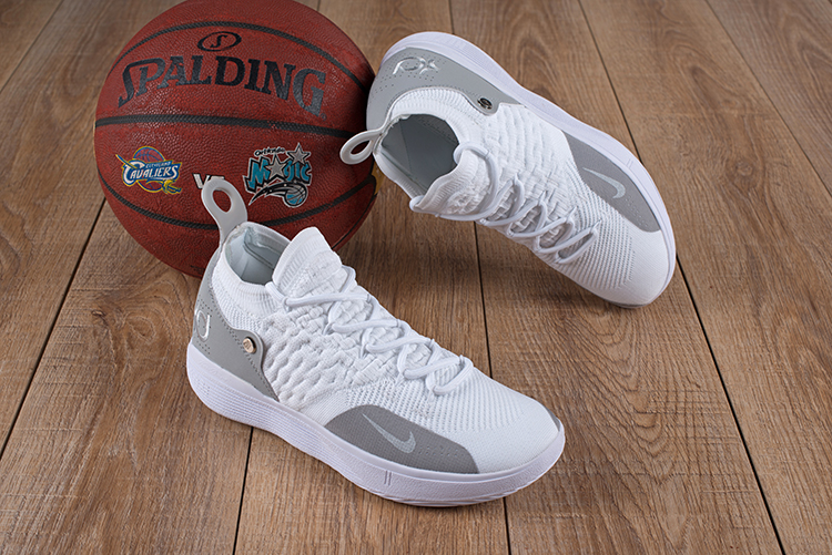 New Nike KD 11 White Grey Shoes