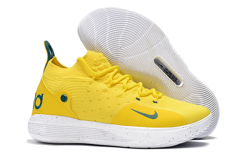 New Nike KD 11 Yellow Green Basketball Shoes