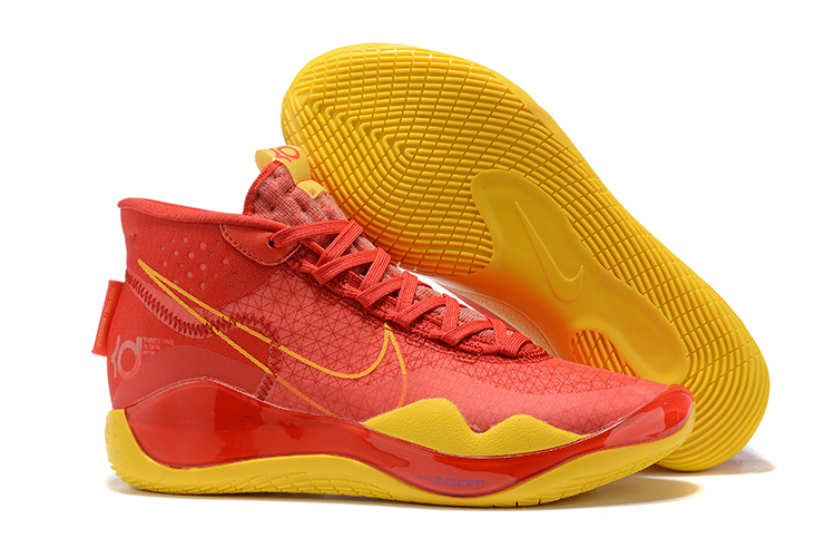 New Nike KD 12 Red Yellow Shoes