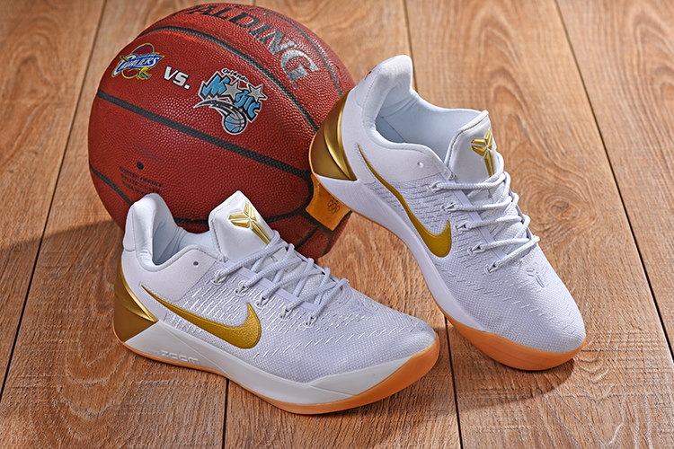 New Nike Kobe A.D White Gold Shoes