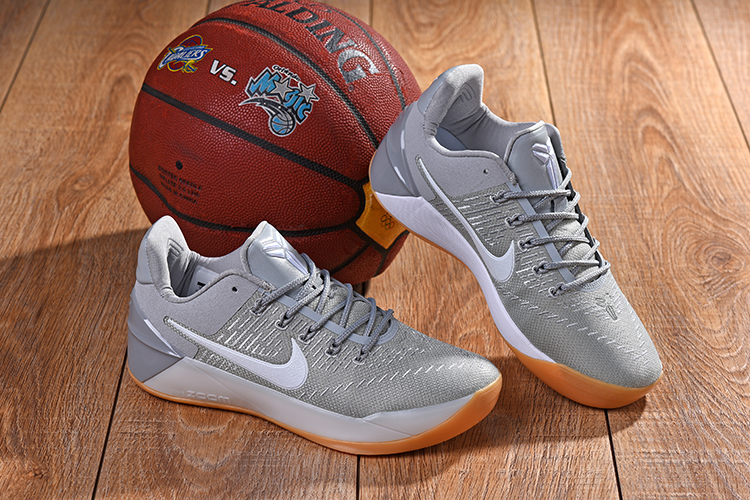 New Nike Kobe A.D Wolf Grey Gum Sole Shoes