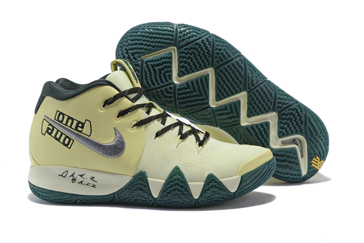 New Nike Kyrie 4 Begin Yellow Green Shoes