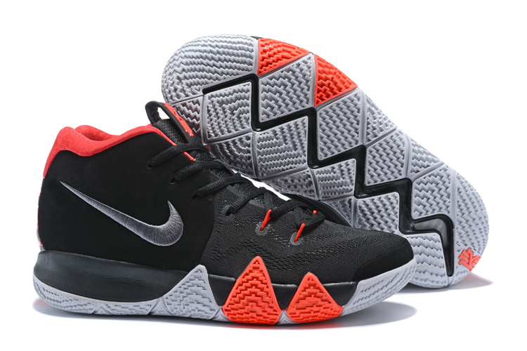 New Nike Kyrie 4 Black Red Grey Shoes