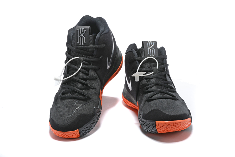 New Nike Kyrie 4 Black Reddish Orange Shoes