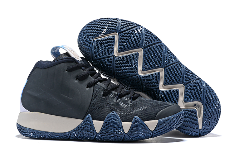New Nike Kyrie 4 Deep Blue White Shoes