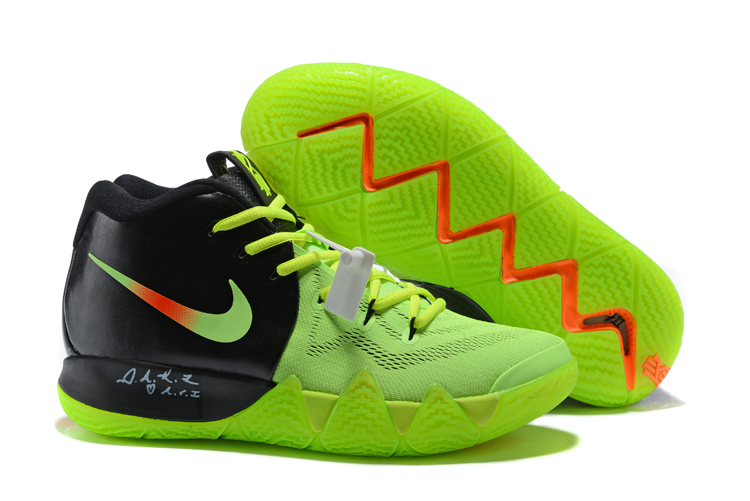 New Nike Kyrie 4 Fluorscent Green Black Shoes