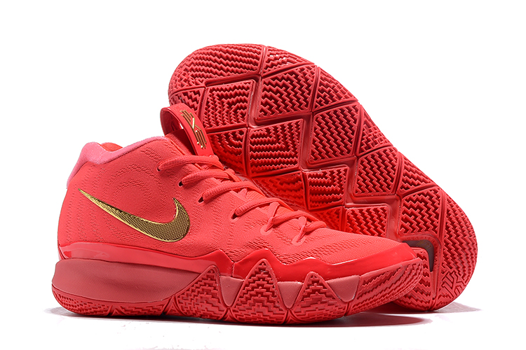 New Nike Kyrie 4 Hot Red Gold