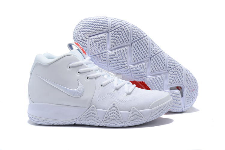 New Nike Kyrie 4 Love Heart All White Shoes