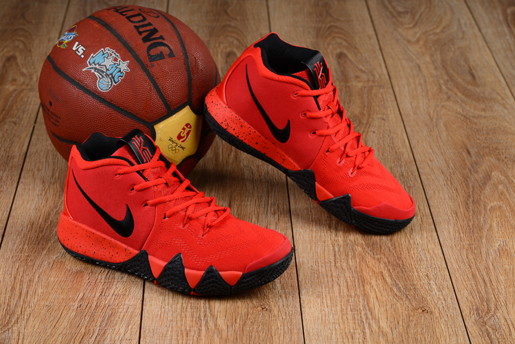 New Nike Kyrie 4 Red Black Shoes