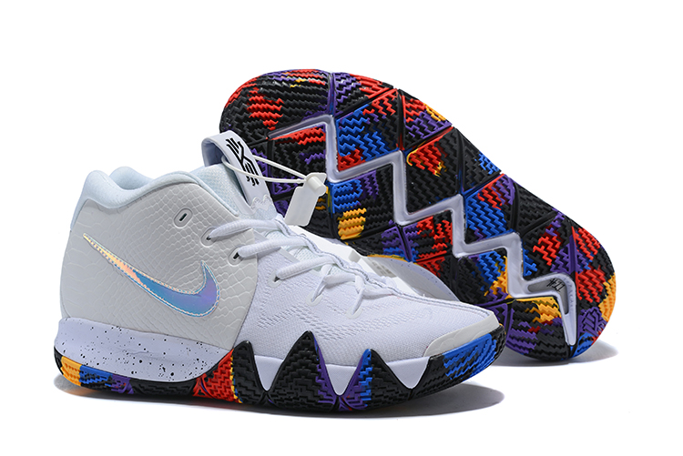 New Nike Kyrie 4 White Baby Blue Shoes