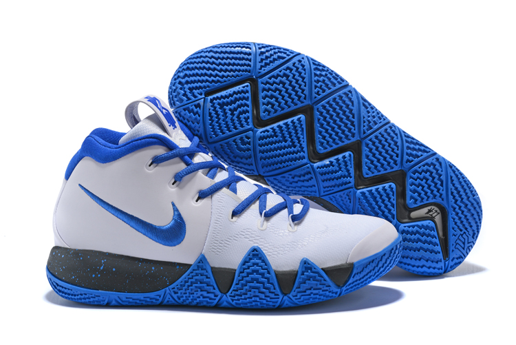 New Nike Kyrie 4 White Blue Black Shoes