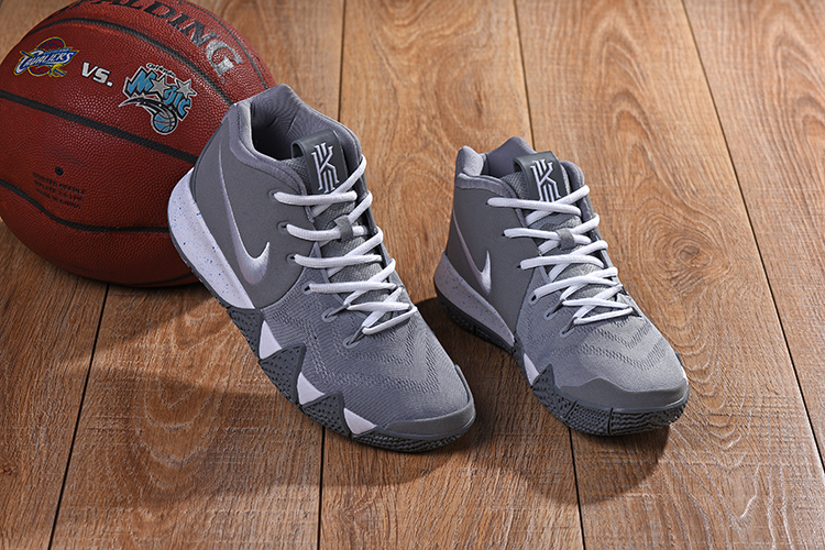New Nike Kyrie 4 Wolf Grey White Shoes