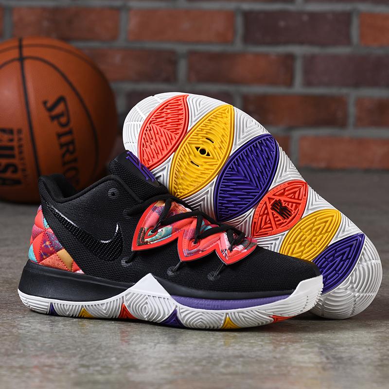 newest 4c345 6e43d New Nike Kyrie 5 Black Orange Purple Shoes