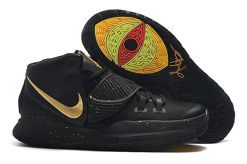 New Nike Kyrie 6 Black Gold Shoes