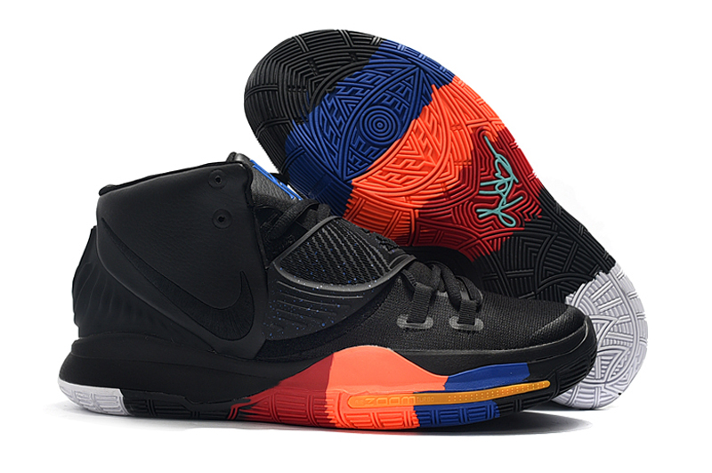 New Nike Kyrie 6 Black Orange Red Blue Shoes