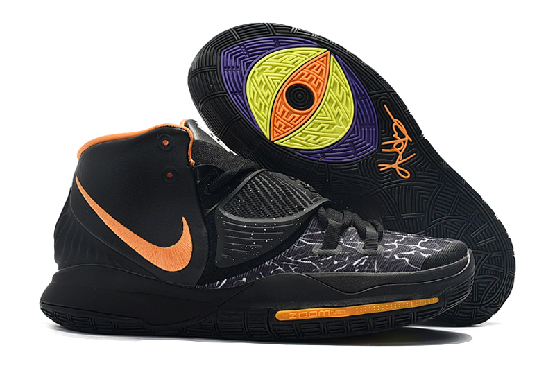 New Nike Kyrie 6 Black Orange Yellow Shoes