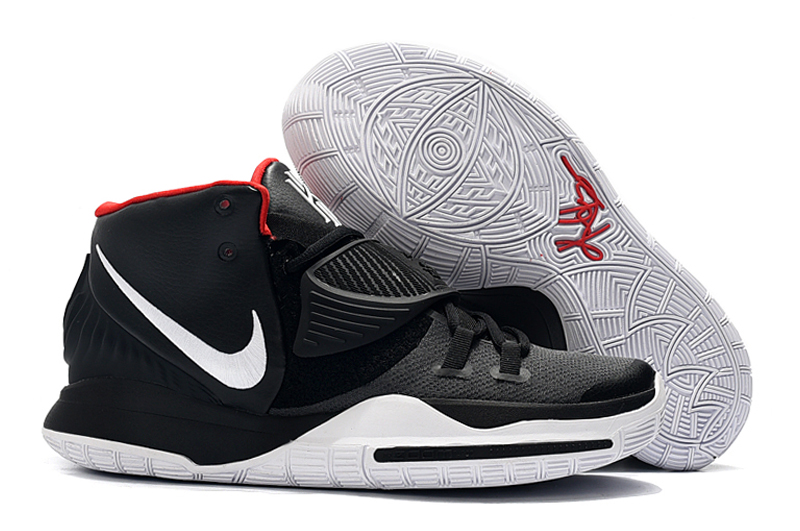 New Nike Kyrie 6 Black White Red Shoes