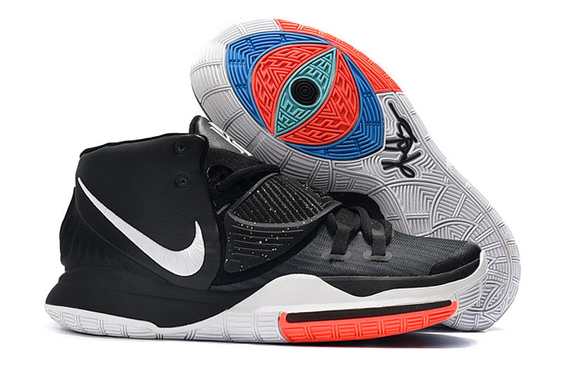 New Nike Kyrie 6 Black White Reddish Shoes
