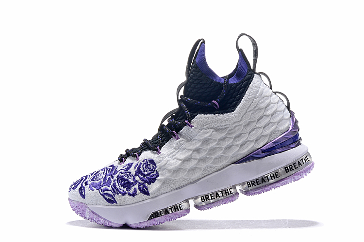 82f367a27e790 New Nike LeBron 15 Flor White Purple Black Shoes  18kobe92606 ...