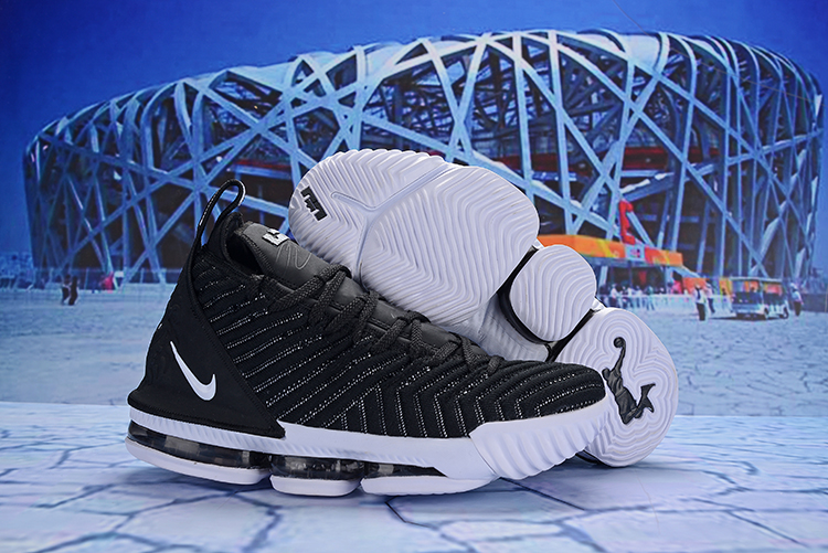 New Nike LeBron 16 Black White Shoes