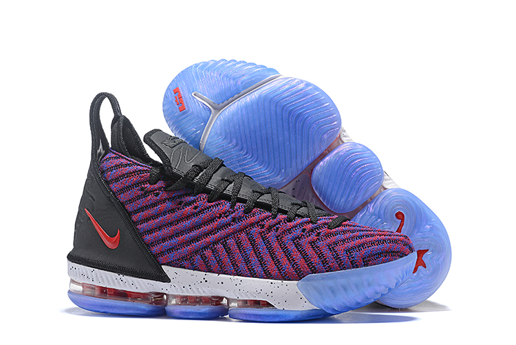 New Nike LeBron 16 Purple Blue Black Red Shoes
