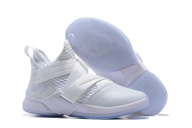 New Nike Lebron Soldier 12 All White Shoes