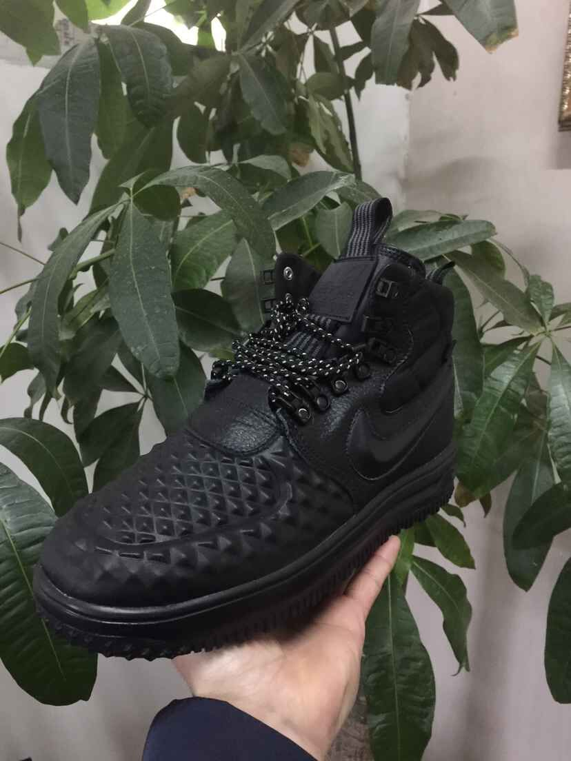 New Nike Lunar Force 1 Duckboot All Black