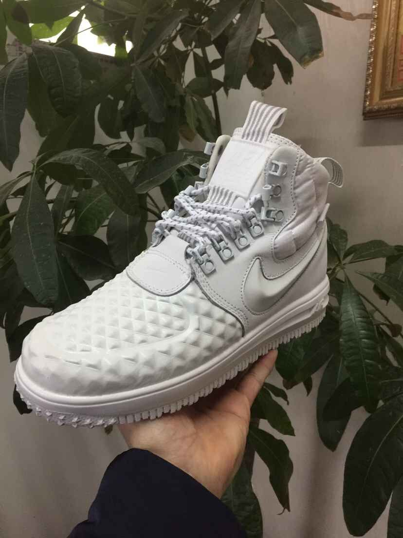 New Nike Lunar Force 1 Duckboot All White