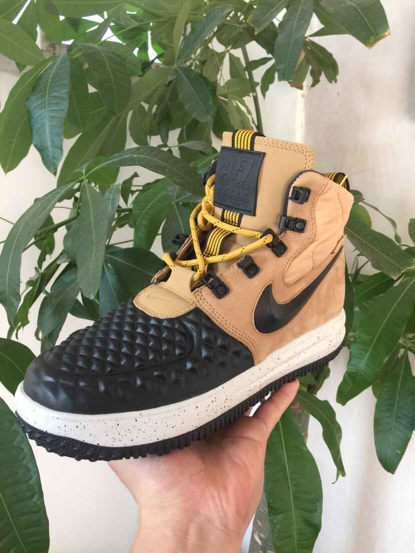 New Nike Lunar Force 1 Duckboot Black Yellow
