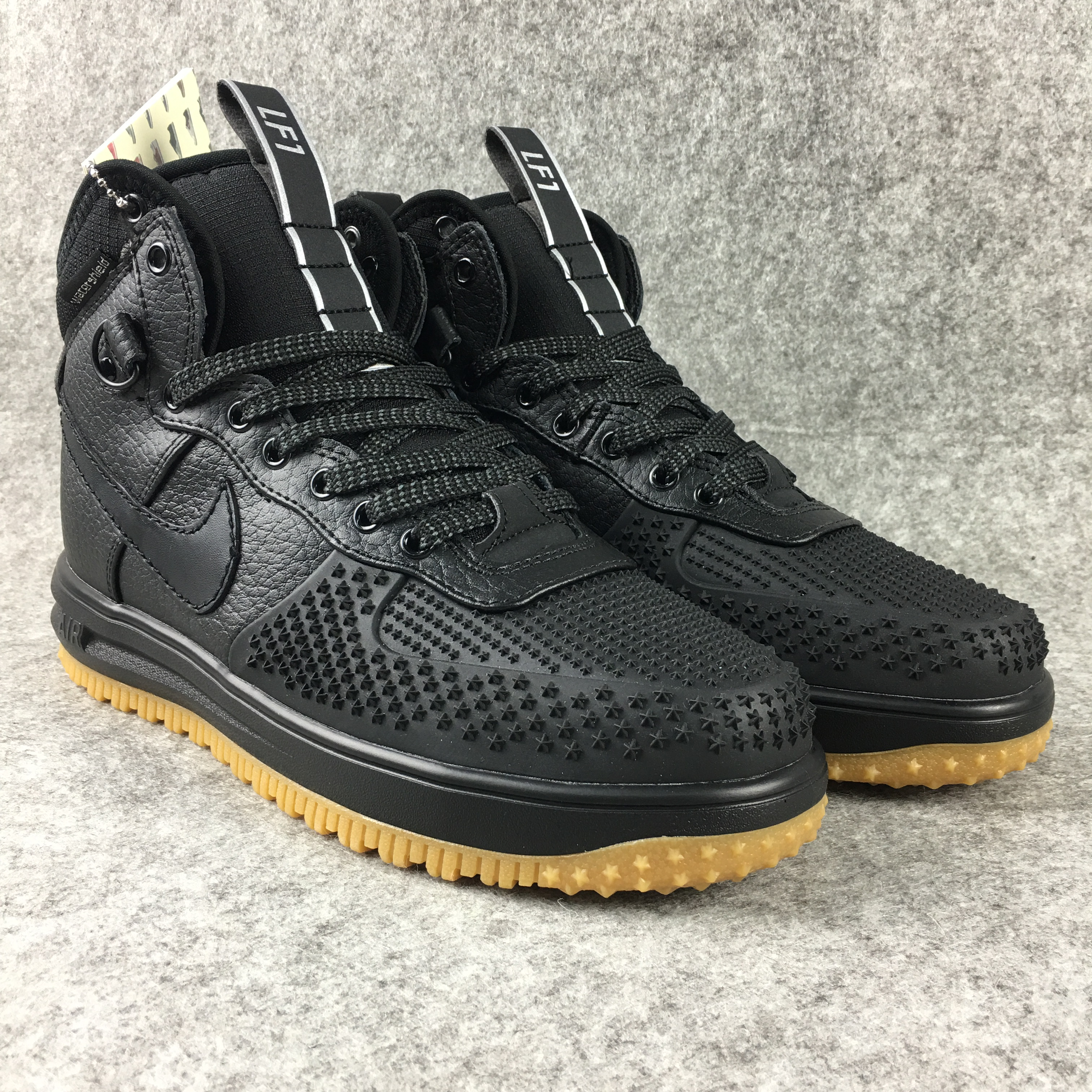 New Nike Lunar Force 1 High All Black Gum Sole