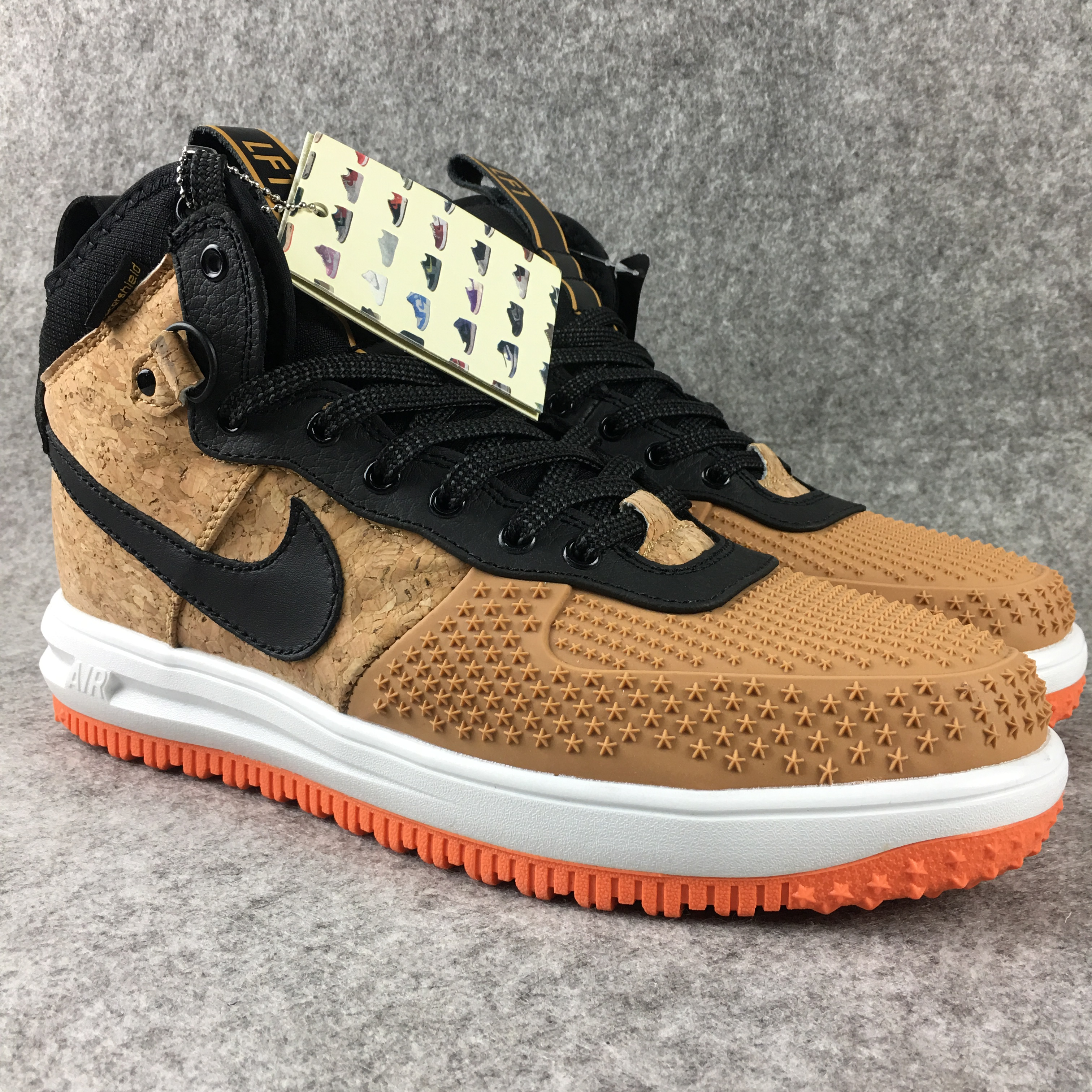 New Nike Lunar Force 1 High Cork Wheat Yellow Black